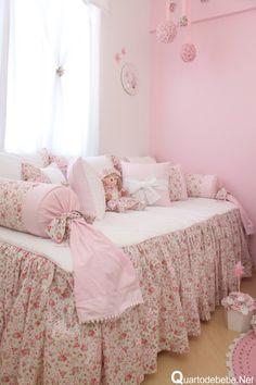 enxoval floral cama infantil