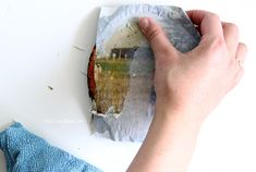 Wood Photo Transfer - A Simple Tutorial Using Mod Podge - The Crazy Craft Lady Picture Onto Wood, Picture Transfer To Wood, Transfer Images To Wood, Transfer Onto Wood, Photo On Wood, Techno Gadgets, Mod Podge Crafts, Wood Rounds, Camping Crafts