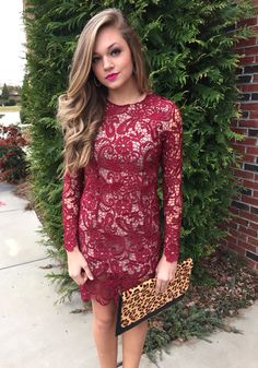 Crochet lace dress #swoonboutique