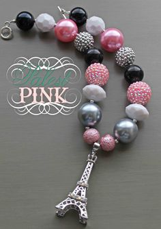 Paris little girls chunky necklace. $30.00, via Etsy.
