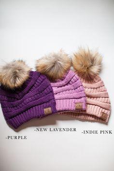 84f79bbe7df Best Selling CC Pom Pom Beanie - New Lavender Fur Pom Pom Hat
