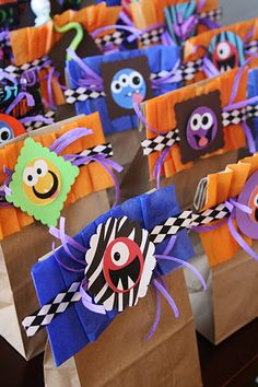 Instead of doing individual prizes for each game, put together a prize bag. If you played every game you got a prize bag full of fun Halloween goodies.