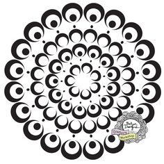 I like this bubble doily stencil...I will have to keep in on my wish list for when I get a job and have some $$$