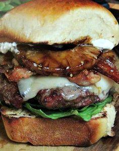 #Homemade Hawaiian sweet #burger buns and grill up an #Aloha Burger!
