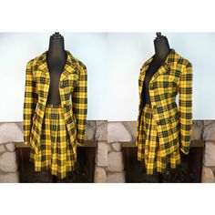 5-6 weeks waiitng' Cher Yellow Tartan Blazer Skirt Set (4,140 DOP ...