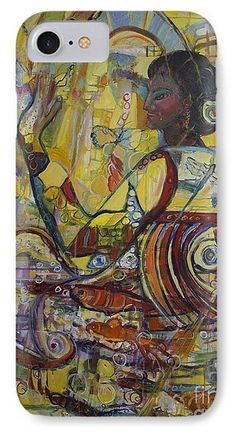 'Genes' fine art painting by Avonelle Kelsey IPhone 7 Case for   Protect your iPhone 7 with an impact-resistant, slim-profile, hard-shell case.  The image is printed directly onto the case and wrapped around the edges for a beautiful presentation.  Simply snap the case onto your iPhone 7 for instant protection and direct access to all of the phone's features!