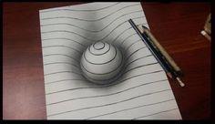 Avec un peu d'imagination, vous obtiendrez de magnifiques illusions d'optique en quelques coups de crayon.