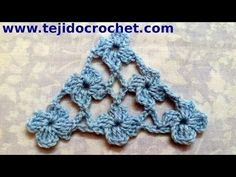 Chal en tejido crochet con Punto Margarita tutorial paso a paso. - YouTube