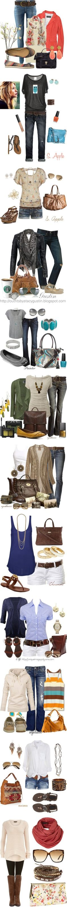 Some cute combinations. - Click image to find more Women's Fashion Pinterest pins