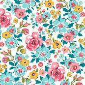 Ditsy flowers floral- spoonflower