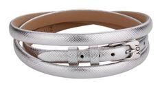 Joy de la Luz   Leather buckle bracelet silver