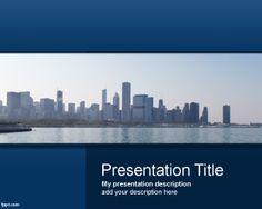 Viaje a Chicago PowerPoint template con plantilla de foto de Chicago para descargar gratis