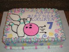 Girl Bowling Cake on Cake Central