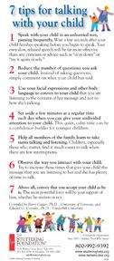 7 Tips For Talking With Your Child. PDF Download. Stuttering Foundation: A Nonprofit Organization Helping Those Who Stutter