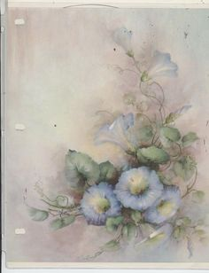 Blue Morning Glories #42 by Sonie Ames  China Painting Study 1970 picclick.com
