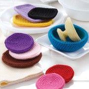 Crochet plates, cups and accessories patterns