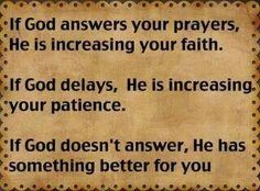 God's Timing for Answering Prayers