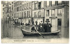 Paris Under the Waters: Out the Window and Into the Boat (1910)   Flickr - Photo Sharing!