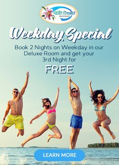 Wild Orchid Beach Resort, Subic Bay Weekday Special - http://wildorchidsubic.com/promos.html Deluxe Room Rate: PHP3,999.00 net per Night Cash basis only  Inclusions: Room Accommodation Use of Swimming Facilities Use of Gym Regular Extra Person Charge Apply*  Promo Period: October 1-30, 2016 *Subject to Room Availability  For Details, Contact Us At: 047-223-1029 | 0917-512-3029 www.wildorchidsubic.com groupbookings.wildorchidsubic@gmail.com| bookings@wildorchidsubic.com