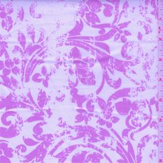 Ivory/Pink Fine Line Twill - 33703 - Fabric By The Yard At Discount Prices