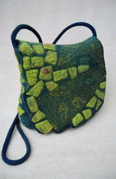 Beautiful textured felt bag by sassafrasdesignl on Etsy