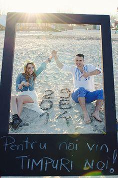 Save the date Card - Seaside Seashells Love  Teaser invitatie de nunta