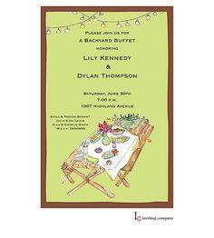 backyard picnic invitation