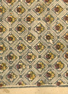 Carta silografica policroma a foglio intero, Italia seconda metà del XVIII secolo.