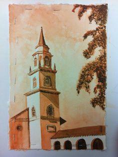 Sepia Escape, a Watercolor; by Josie Lyn