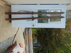 vintage/antique wooden skis   83  long chalet decor     #1105