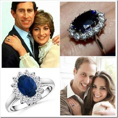 Lady Diana and Princess Kate Middleton Sapphire Engagement Ring Natural Sapphire Rings, Blue Sapphire Rings, Princess Diana Ring, Sapphire Solitaire Ring, Women In America, Princess Kate Middleton, Lady Diana, Marie, Engagement Ring