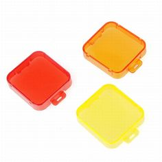 PC Under Sea Filter Cover, for Gopro Hero  3+4, YellowRedOrange