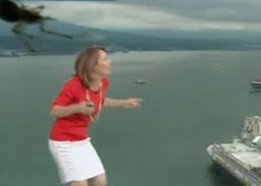 Viral video: Weather woman attacked by giant spider!