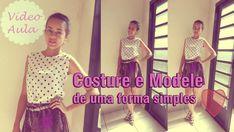 Como costurar e modelar roupas - blusa simples  Alana Santos Blogger (+p...