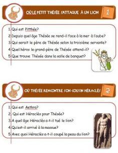 Le feuilleton de Thésée: Antiquité/Mythologie  CE1/CE2. excellent! Lectures, Mythology, Homeschool, Anna, Europe, French, History, Greek Gods, Learn To Read