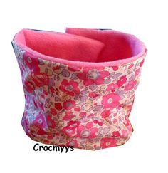 Snood enfant liberty betsy bougainvillier doublé polaire rose : Mode filles par crocmyys