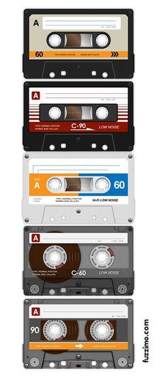 Cassettes audio: j'en avais toujours une dans le compartiment de ma radio-cassette au cas où il passerait un super tube à enregistrer!