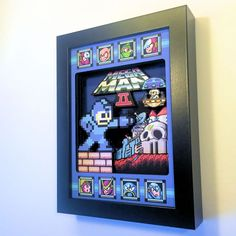 Retro 3D Video Game Shadow Boxes Add Immortal Depth To Classic Arcades  #3d #3dart #80s #art #atari #decor #retro These Video Game Shadow Boxes made by Toronto-based Etsy artists Glitch Artwork capture exactly the singular simplicity that has kept the 8-bit and 16...