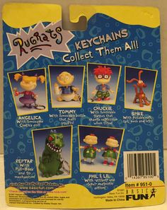 1997 Nickelodeon Rugrats Keychains - Tommy This item is NOT in Mint Condition and is in no way being described as Mint or even Near Mint. Our toys have not always lead the perfect life, nor have they Spongebob Squarepants Toys, Rugrats All Grown Up, Good Ol Times, 90s Kids, Keychains, Vintage Toys, Childhood Memories, Growing Up, 90s Things