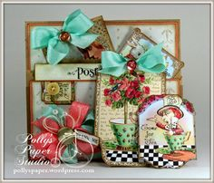 Wonderland Tea Pocket and Tags for RRR and Crafty Secrets Day 9