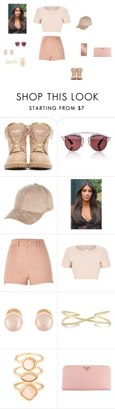 """Sem título #751"" by bibi35 ❤ liked on Polyvore featuring Balmain, Mura, Christian Dior, River Island, Kenneth Jay Lane, Monsoon, Prada, women's clothing, women's fashion and women"