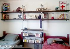 Industrial pipe shelving project