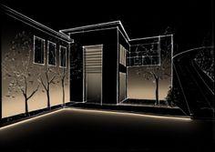 Conceptual de iluminación para fachada de un proyecto residencial