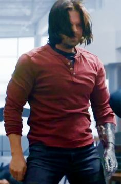 bucky barnes | Tumblr << Look at all the muscle Seb has gained. Beautiful!