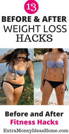 13 Lazy girl weight loss hacks to help you lose weight faster. The ultimate weight loss hacks, before and after weight loss hacks and healthy fitness hacks Weight Loss Workout Plan, Fast Weight Loss, Weight Loss Tips, Weight Lifting, Workout Without Gym, Before After Weight Loss, Weight Loss Smoothies, Lose Belly Fat, How To Lose Weight Fast