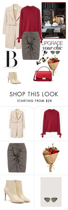 """Style upgrade: off white boots"" by nadi on Polyvore featuring Balenciaga, MANGO, Prada, Étoile Isabel Marant, Tom Ford, polyvoreeditorial and Whiteboots"