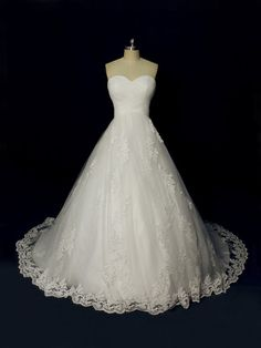 Gorgeous Custom Made Ball Style Wedding Dress Tulle by AceFashion, $329.00