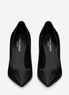 Saint Laurent Paris Black Stilettos