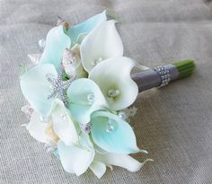 Floramatique Natural Touch Tiffany Small Calla Lilies Seashell ...