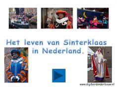 *▶ Het leven van Sinterklaas en zijn Pieten in Nederland. De intocht, de pakjeskamer, de slaapkamers, de postpiet etc. De foto's nodigen uit om met de kinderen te praten. Deze powerpoint bevat 55 dia's.